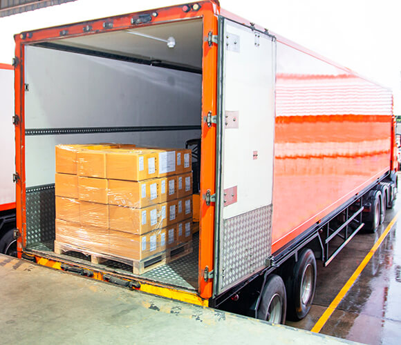 Freight Cost Auditors truck and packages